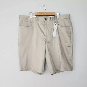 """🆕 Calvin Klein Plaza Golf Chino Khaki 9"""" Shorts"""